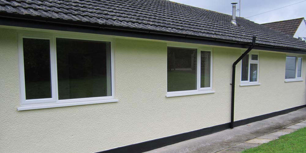 Exterior work on a Bungalow in South Molton completed