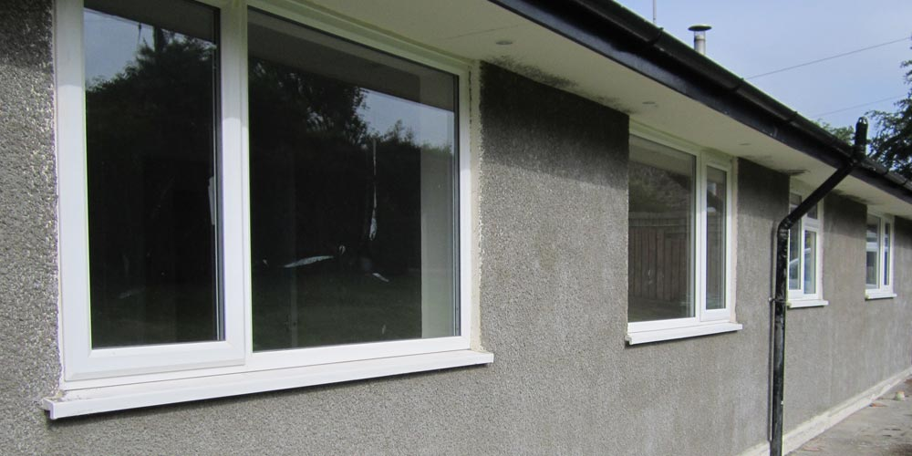 Exterior work on a Bungalow in South Molton before